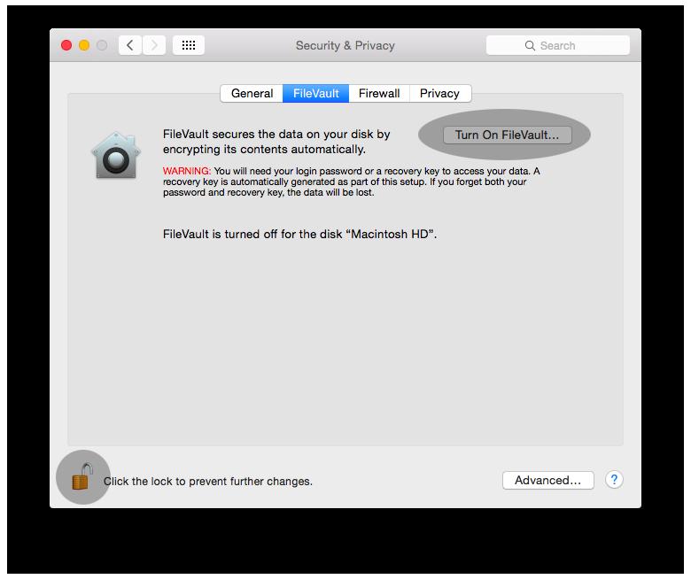 Mac FileVault 2 01