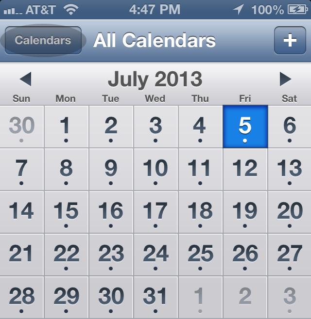 iPhone Calendar 01