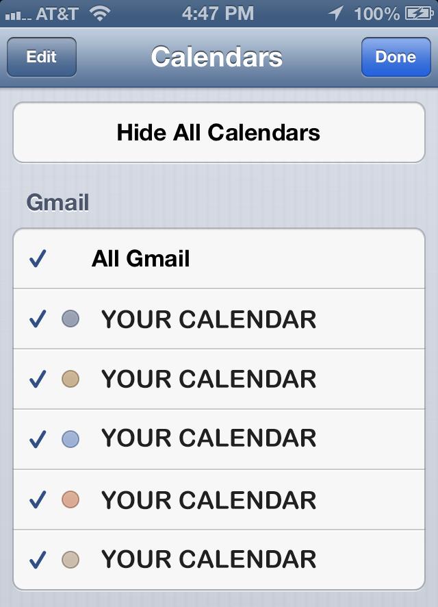 iPhone Calendar 02